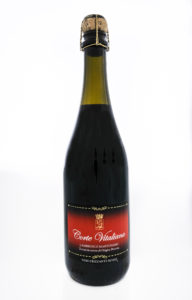 Bottiglia di COrte Vitalina, vino Lambrusco Mantovano DOP