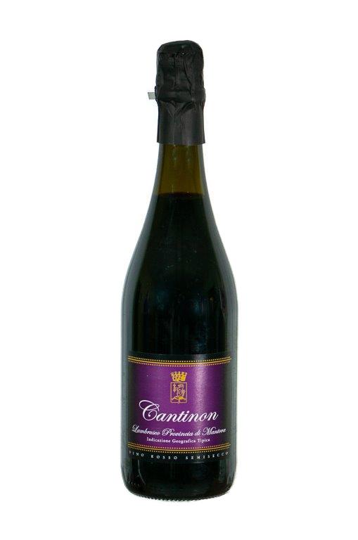 Bottiglia di Cantinon Lambrusco Provincia di Mantova Semisecco