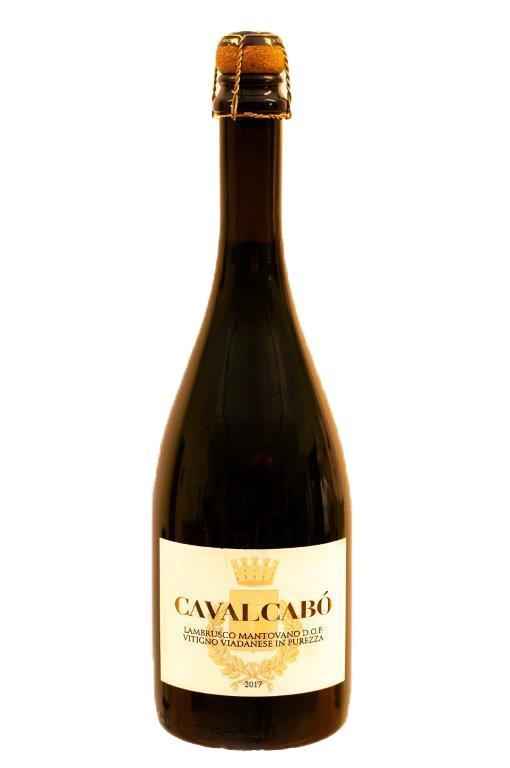 Bottiglia di vino Cavalcabò Lambrusco Viadanese